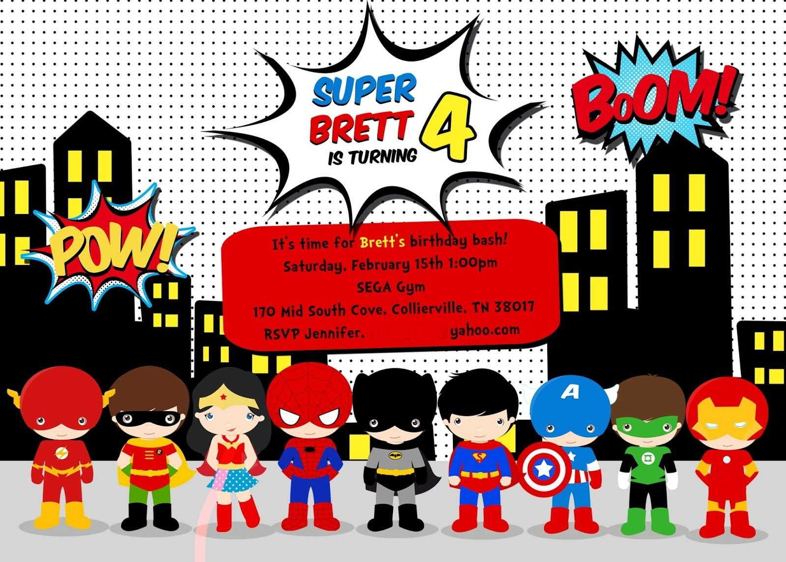 Superhero Invitation Template Free Ideas About Free Printable Superhero Birthday Party