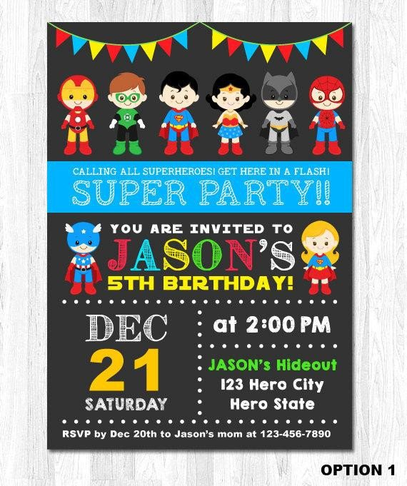 Superhero Invitation Template Free Superhero Invitation Superhero Birthday Invitation by