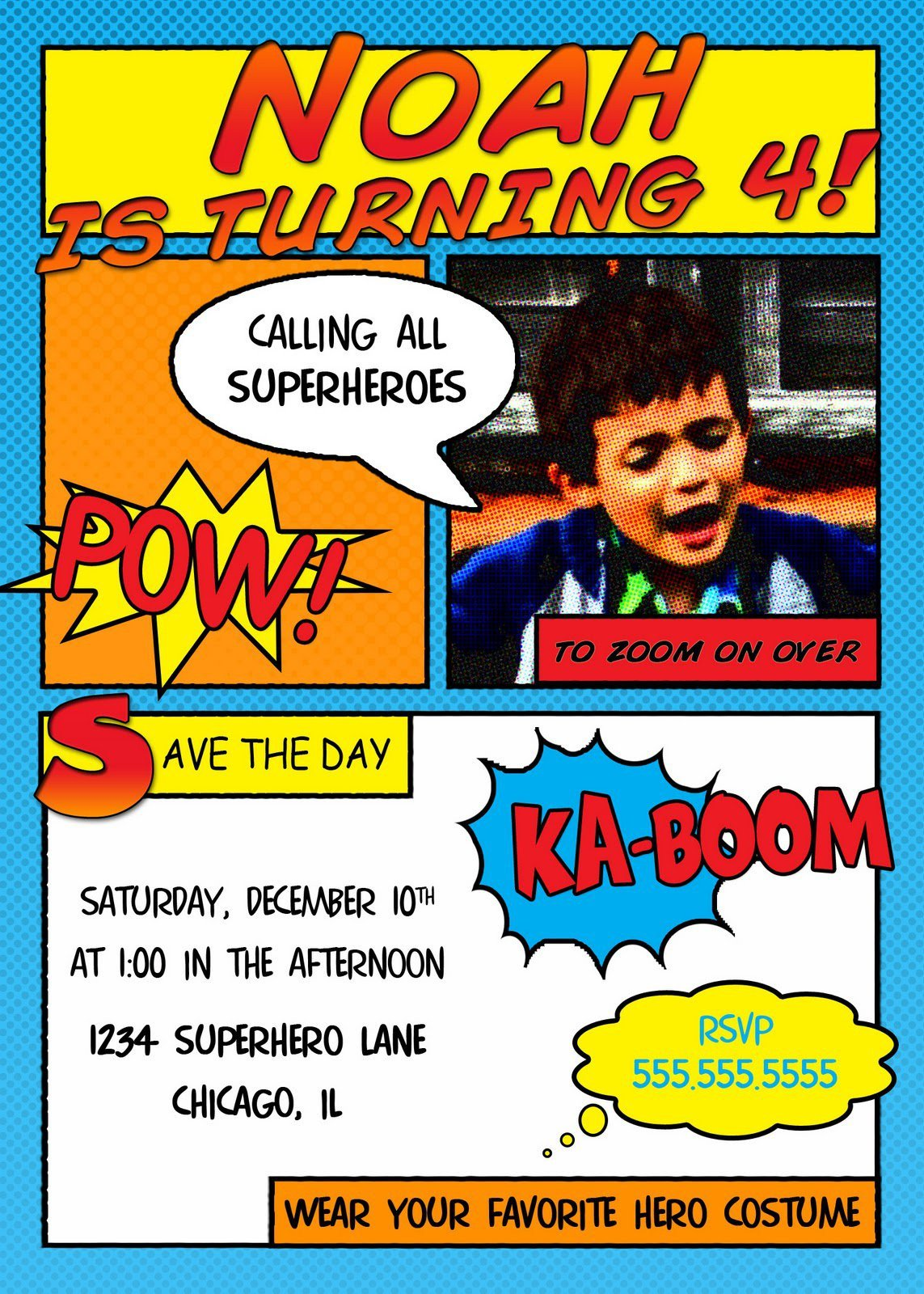 Superhero Invitation Template Free Superhero Invitation Templates