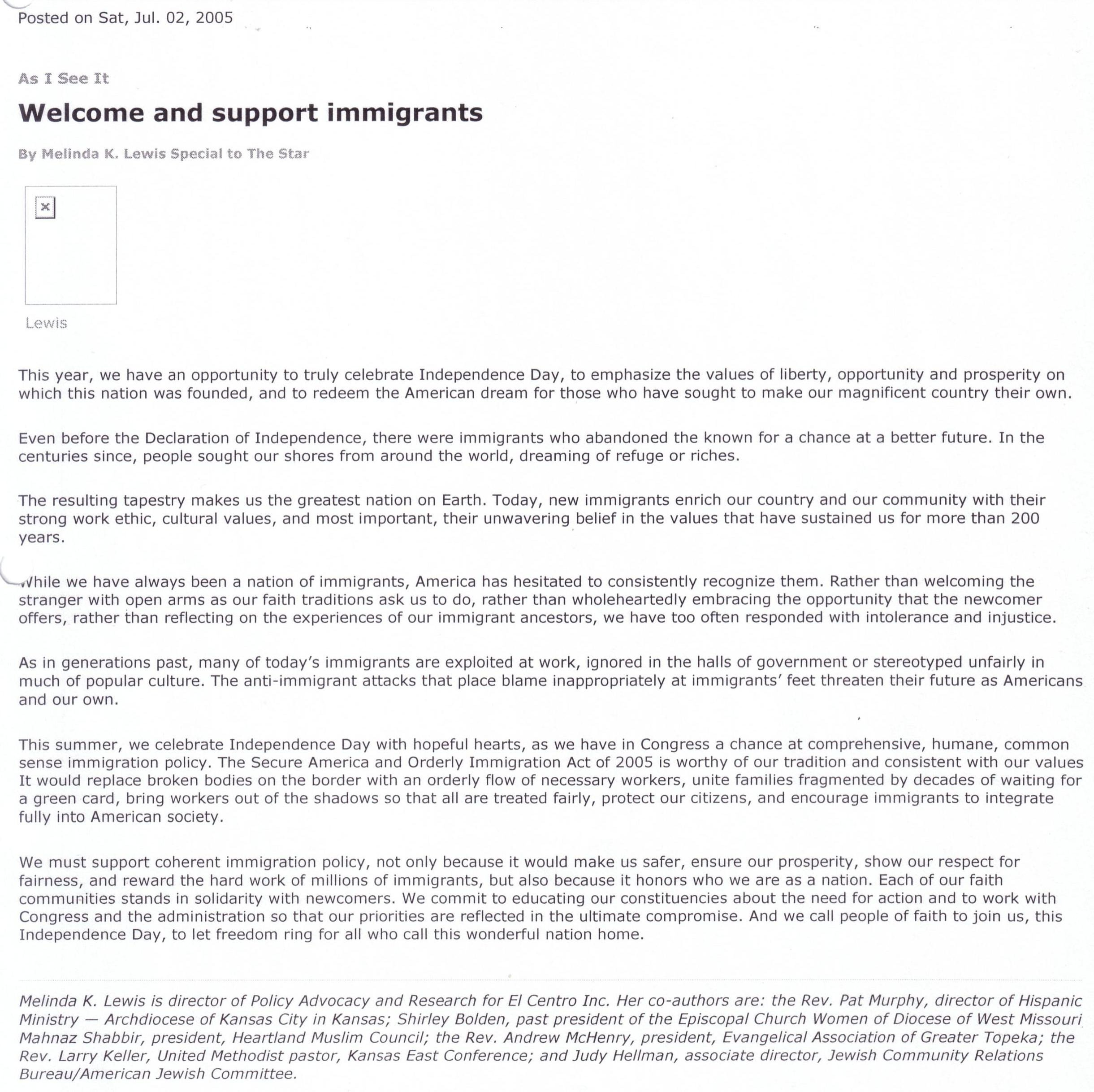 Supporting Letters for Immigration 10 Minute Advocacy Writing A Letter to the Editor