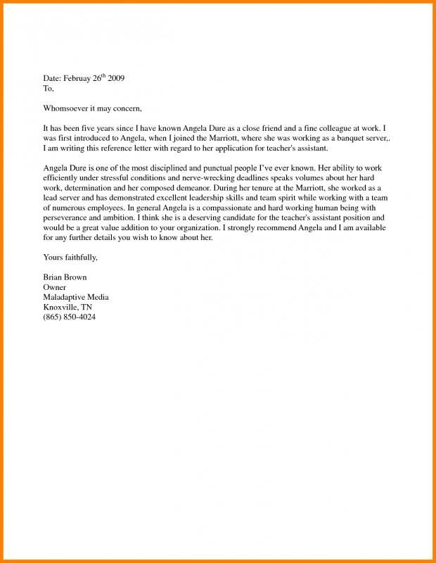 Supporting Letters for Immigration Support Letter Sample for Immigration