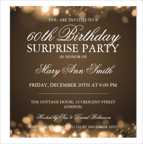 Surprise Party Invitation Template 49 Birthday Invitation Templates Psd Ai Word
