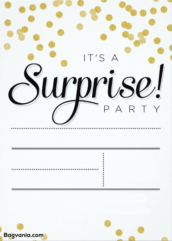 Surprise Party Invitation Template Free Printable Surprise Birthday Invitations – Free