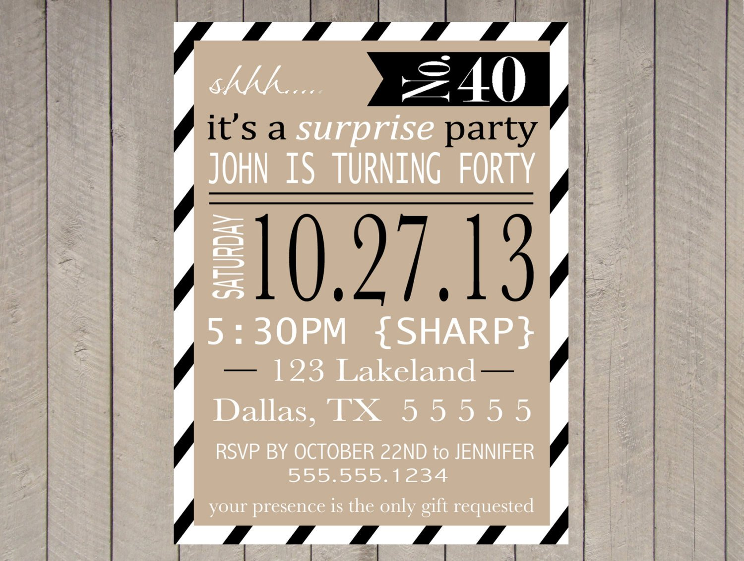 Surprise Party Invitation Template Items Similar to Adult Surprise Party Invitation Printable