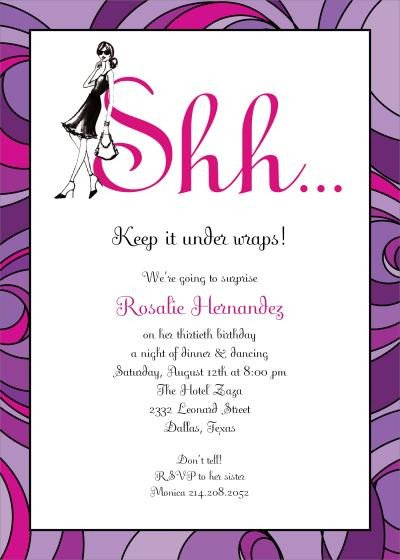Surprise Party Invitation Template Surprise Birthday Party Invitation Template