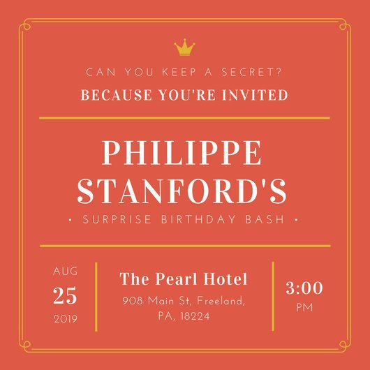 Surprise Party Invitation Template Surprise Party Invitation Templates Canva