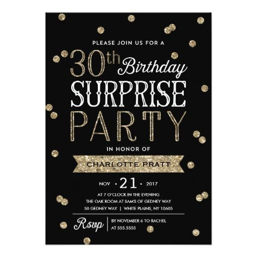 Surprise Party Invitation Templates 20 Interesting 30th Birthday Invitations themes – Wording