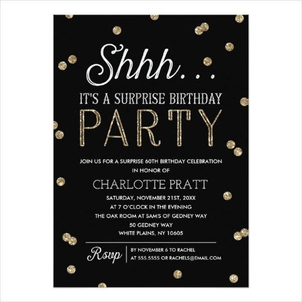 Surprise Party Invitation Templates 83 Birthday Invitations Word Psd Ai Eps
