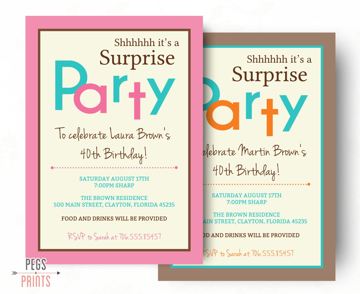 Surprise Party Invitation Templates Surprise Birthday Invitation Printable Surprise Birthday