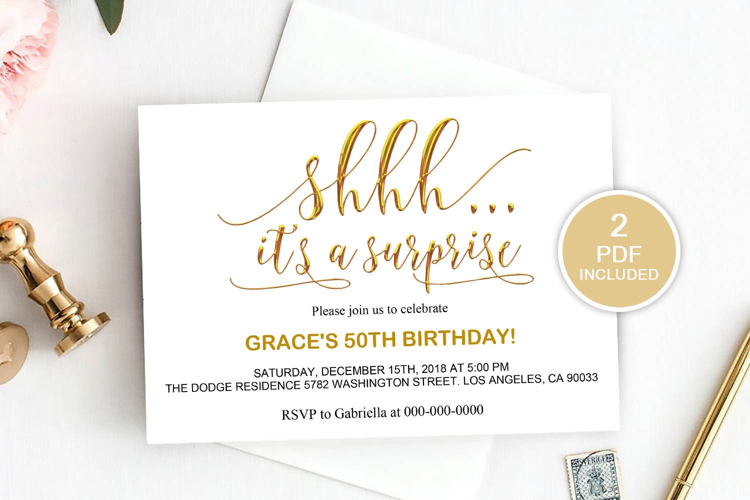 Surprise Party Invitation Templates Surprise Party Invitation Template Dad 20
