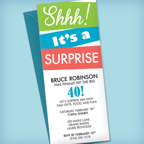 Surprise Party Invitation Templates Surprise Party Invitation Template – Download & Print
