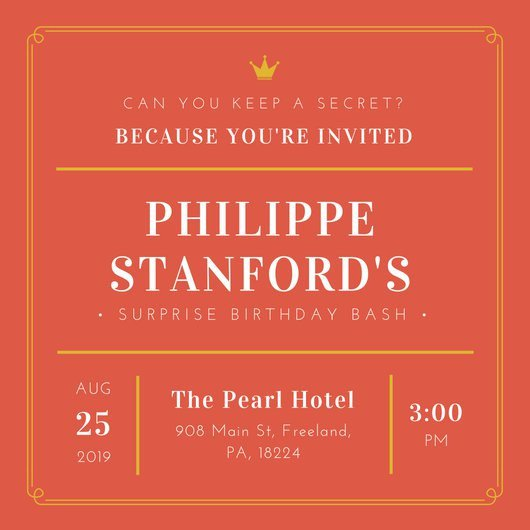 Surprise Party Invitation Templates Surprise Party Invitation Templates Canva