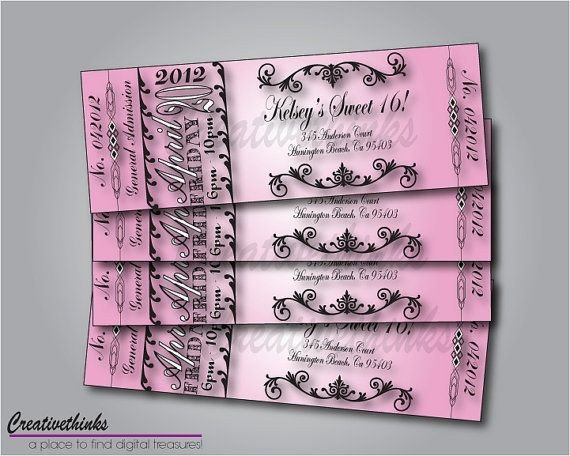 Sweet 16 Invite Template Free Sweet Sixteen Invitation Templates