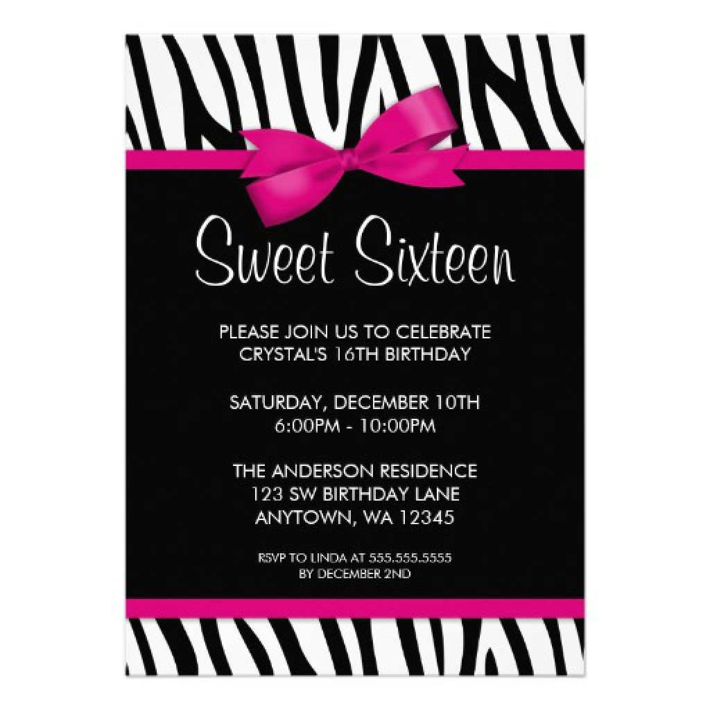 Sweet 16 Invite Template Sweet 16 Birthday Invitations Templates