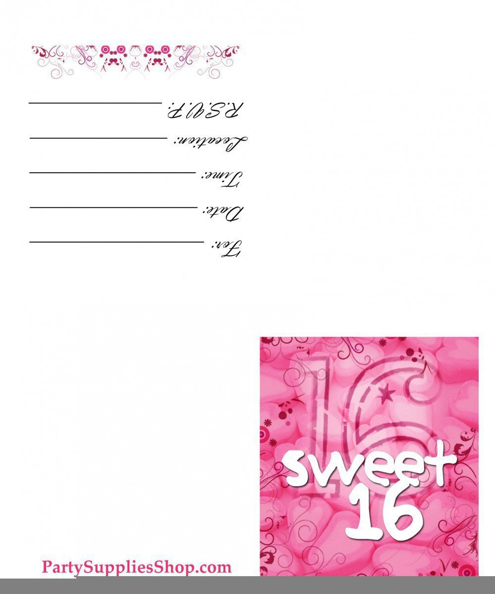 Sweet 16 Invite Template Sweet 16 Invitation Templates Free