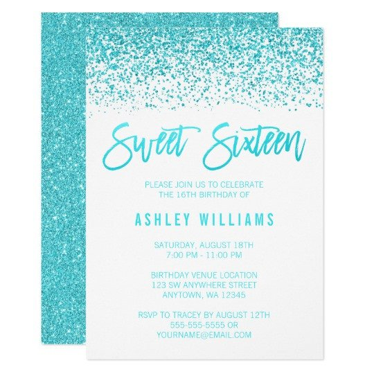 Sweet 16 Invite Template Sweet 16 Invitations