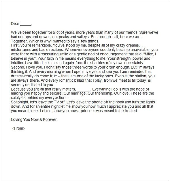 Sweet Letter to Boyfriend Sample Romantic Letters 14 Free Documents In Word