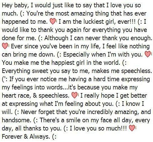 Sweet Letters to Boyfriend Letters to Your Boyfriend