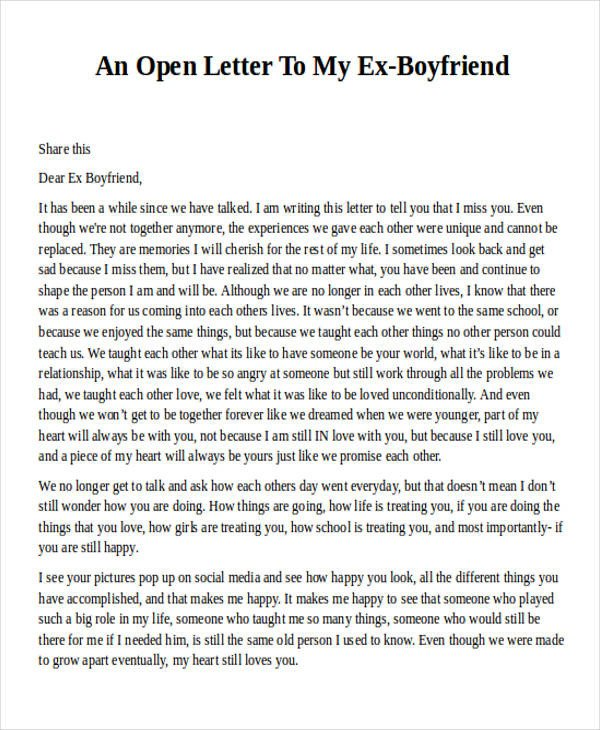 Sweet Letters to Boyfriend Love Letter Examples