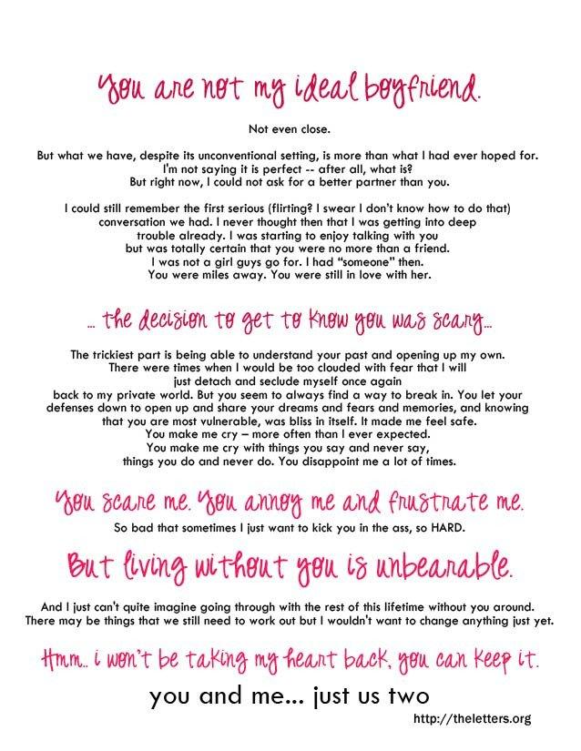 Sweet Letters to Boyfriend Romantic Love Letter for My Boyfriend