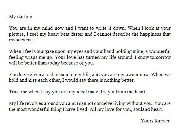 Sweet Letters to Boyfriends Best Love Letter for A Boyfriend thoughts