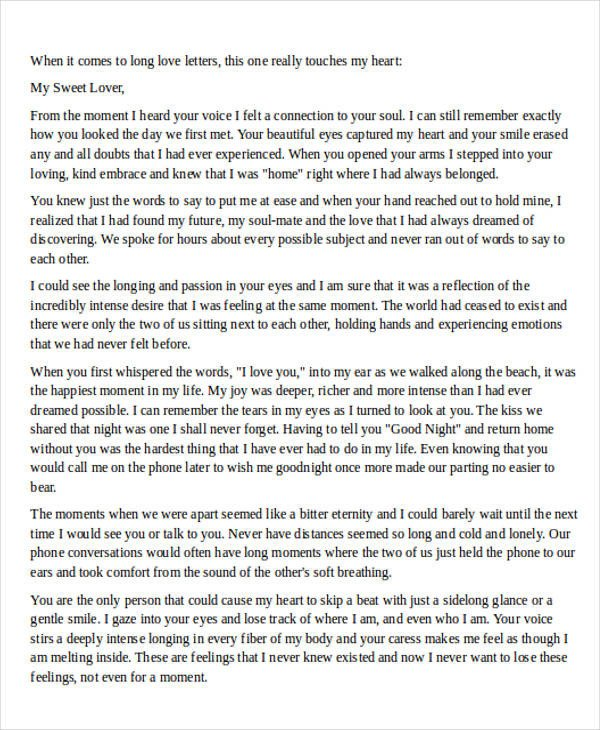 Sweet Letters to Boyfriends Love Letter Examples