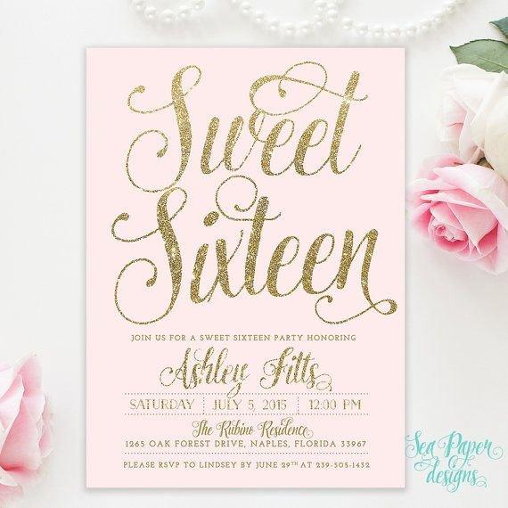 Sweet Sixteen Invitations Templates 25 Best Ideas About Sweet 16 Invitations On Pinterest