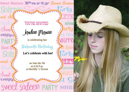 Sweet Sixteen Invitations Templates Printable Sweet Sixteen Invitations