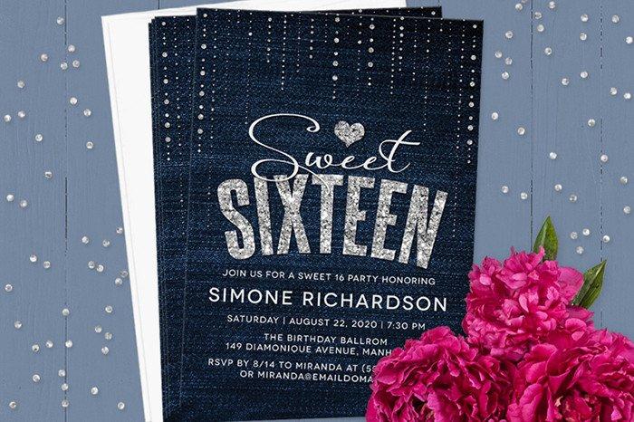 Sweet Sixteen Invitations Templates Sweet 16 Invitation Wording
