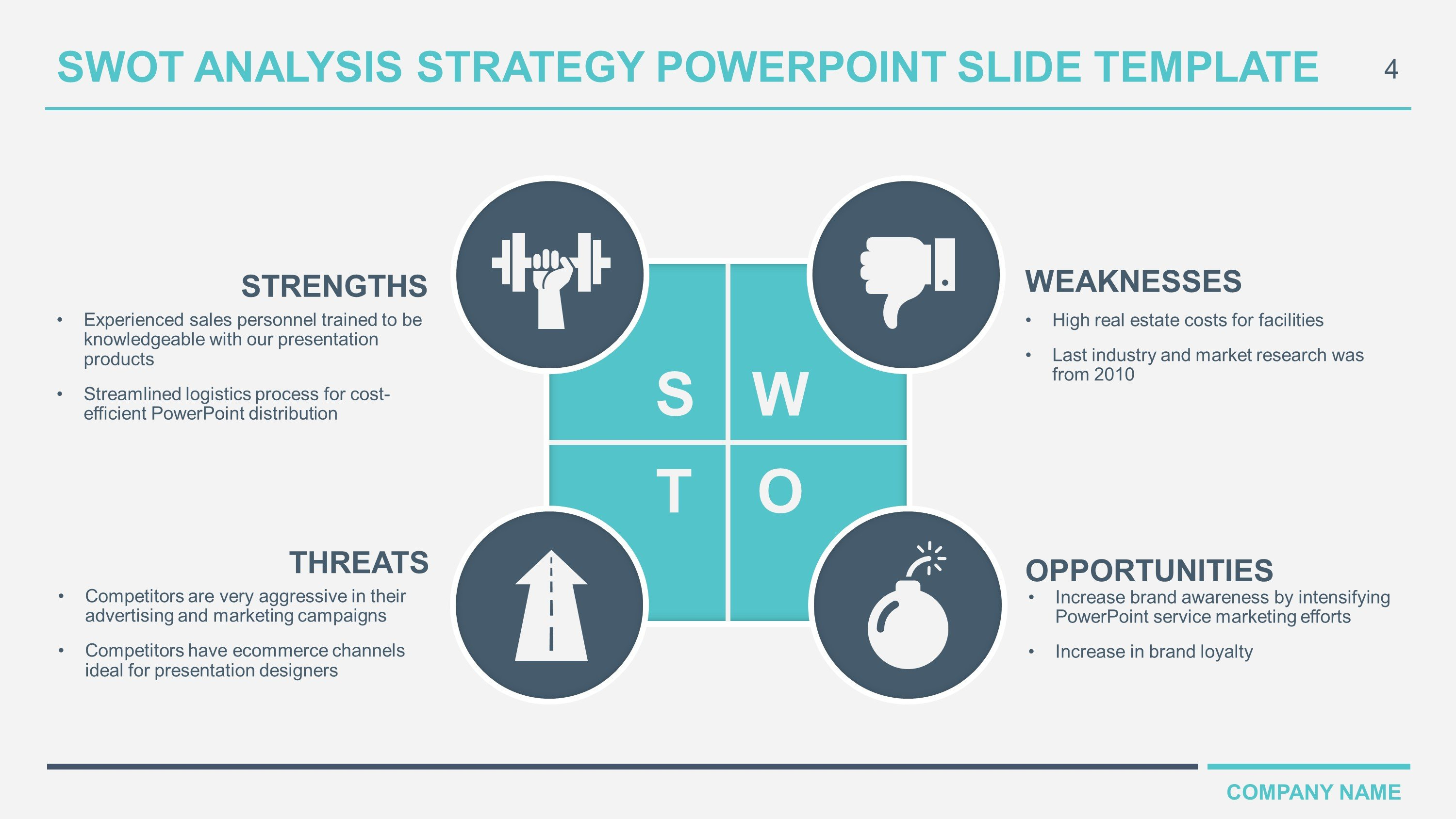 Swot Analysis Template Ppt Free Download Business Swot Analysis Powerpoint Templates
