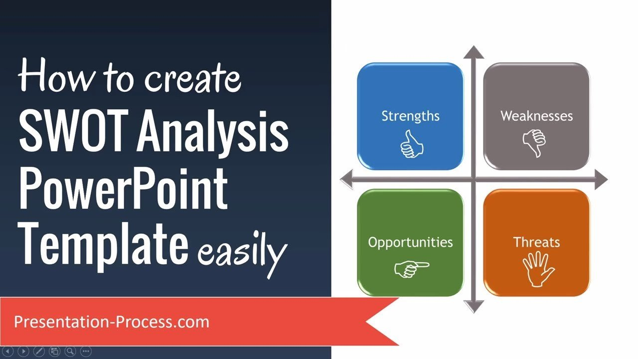 Swot Analysis Template Ppt How to Create Swot Analysis Powerpoint Template Easily