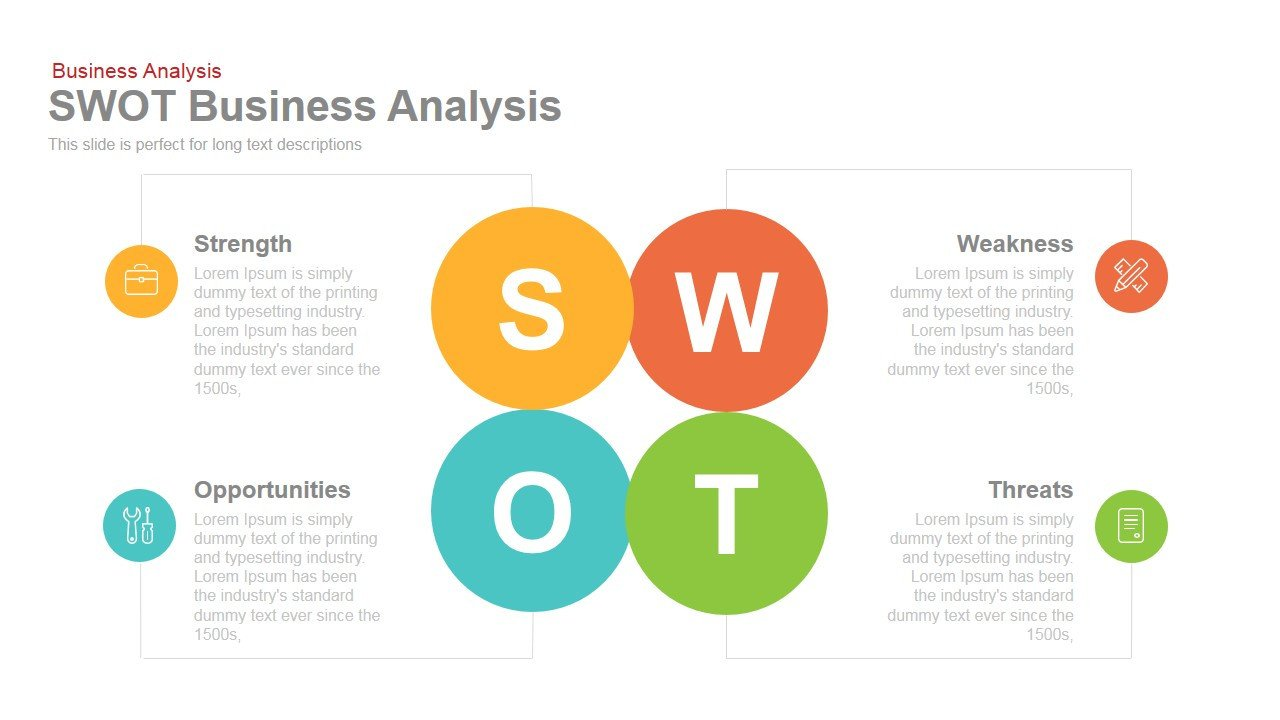 Swot Analysis Template Ppt Swot Business Analysis Powerpoint Keynote Template