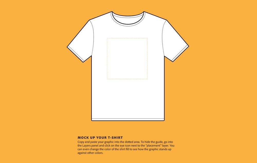 T Shirt Design Template Illustrator 100 Best T Shirt Templates Vectors & Psd Mockups