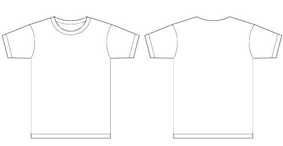 T Shirt Design Template Illustrator Basic Template Vector T Shirt Templates