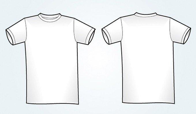 T Shirt Design Template Illustrator Blank White Vector T Shirt Template