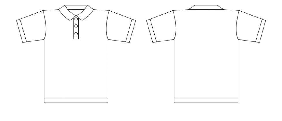 T Shirt Design Template Illustrator Free Polo Shirt Template Download Free Clip Art Free