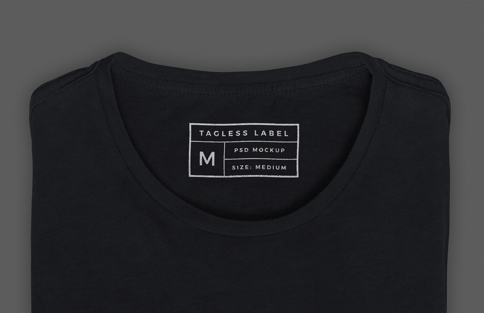 T Shirt Tag Template Apparel Tag Inside Label Mockup — Medialoot