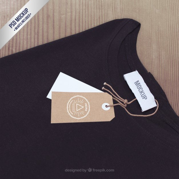 T Shirt Tag Template T Shirt Label Mockup Psd File