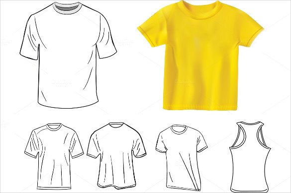 T Shirt Template Design 19 Blank T Shirt Templates Psd Vector Eps Ai