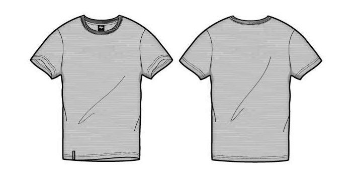 T Shirt Template Design 41 Blank T Shirt Vector Templates Free to Download