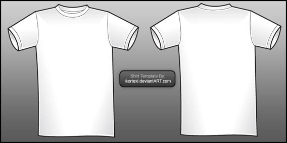 T Shirt Template Design 54 Blank T Shirt Template Examples to Download Vector and