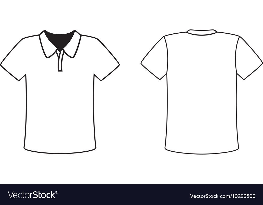 T Shirt Template Design Blank Front and Back Polo T Shirt Design Template Vector Image