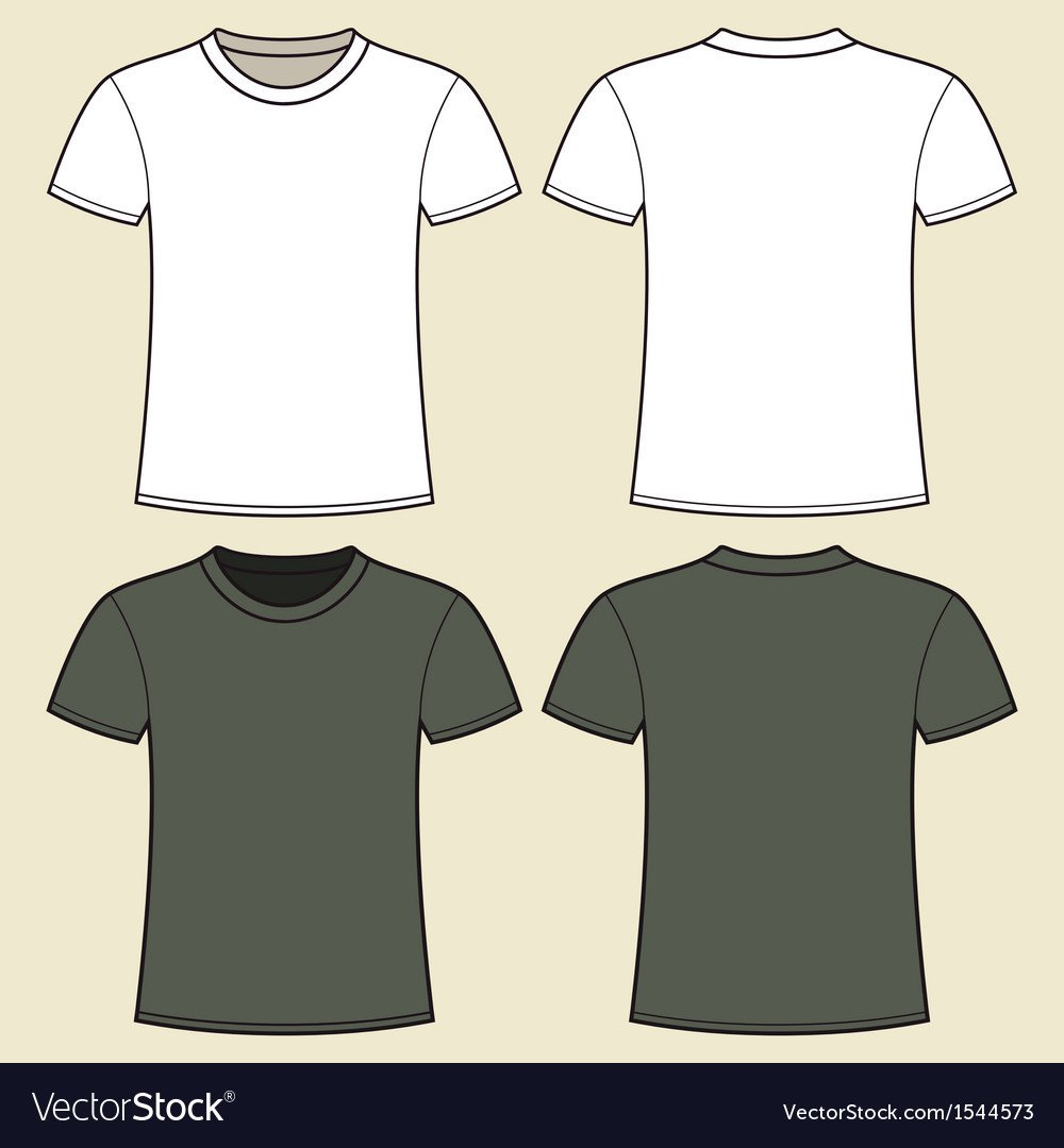 T Shirt Template Design Gray and White T Shirt Design Template Royalty Free Vector