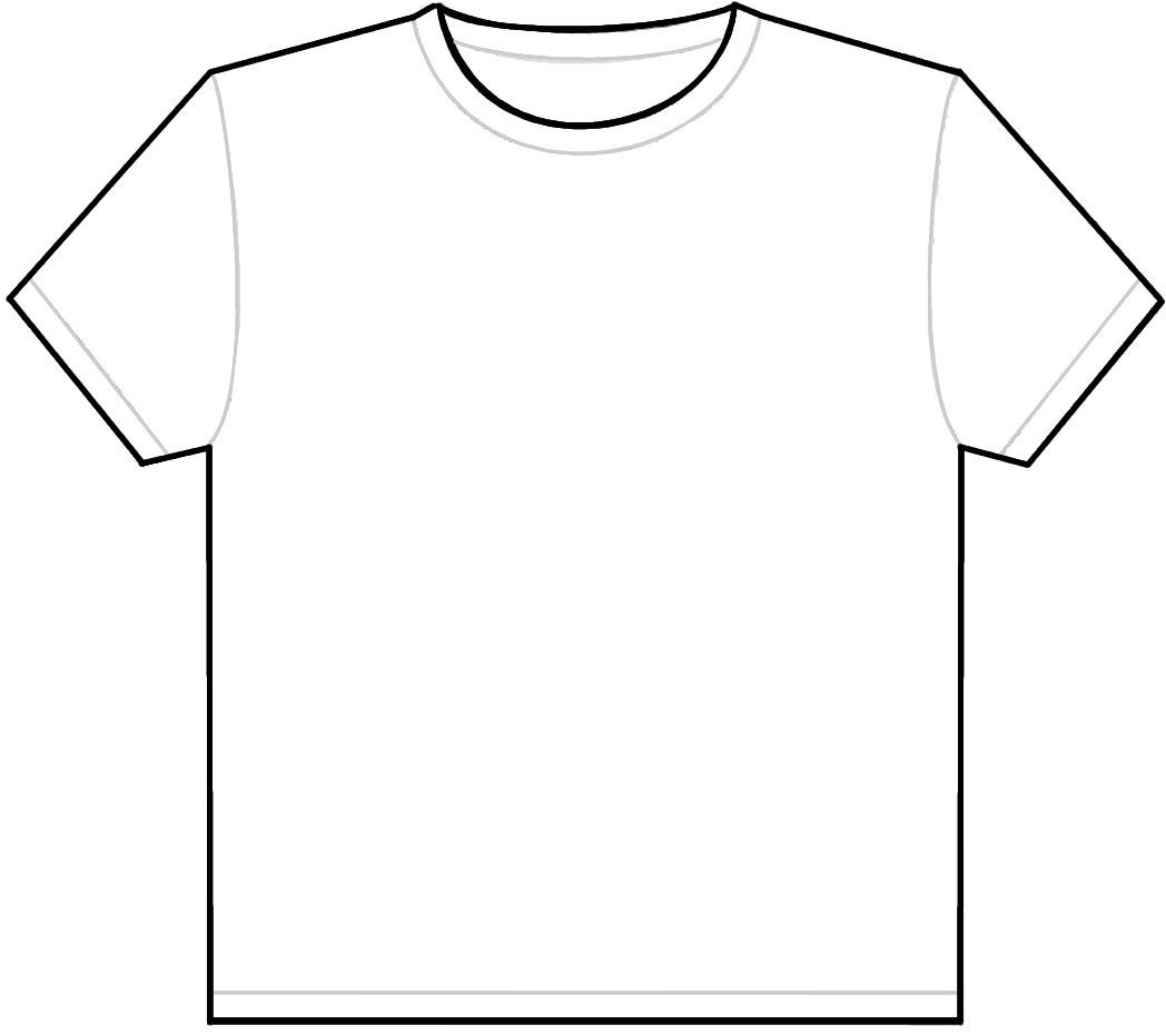 T Shirt Template Design Tshirt Design Template Clipart Best