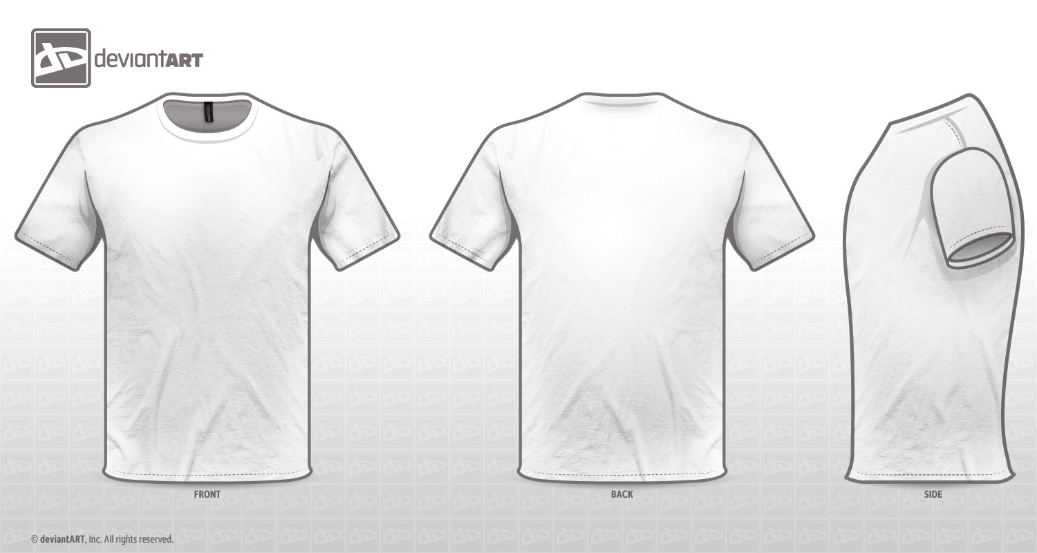 T Shirt Template Design White T Shirt Back Template Projects to Try