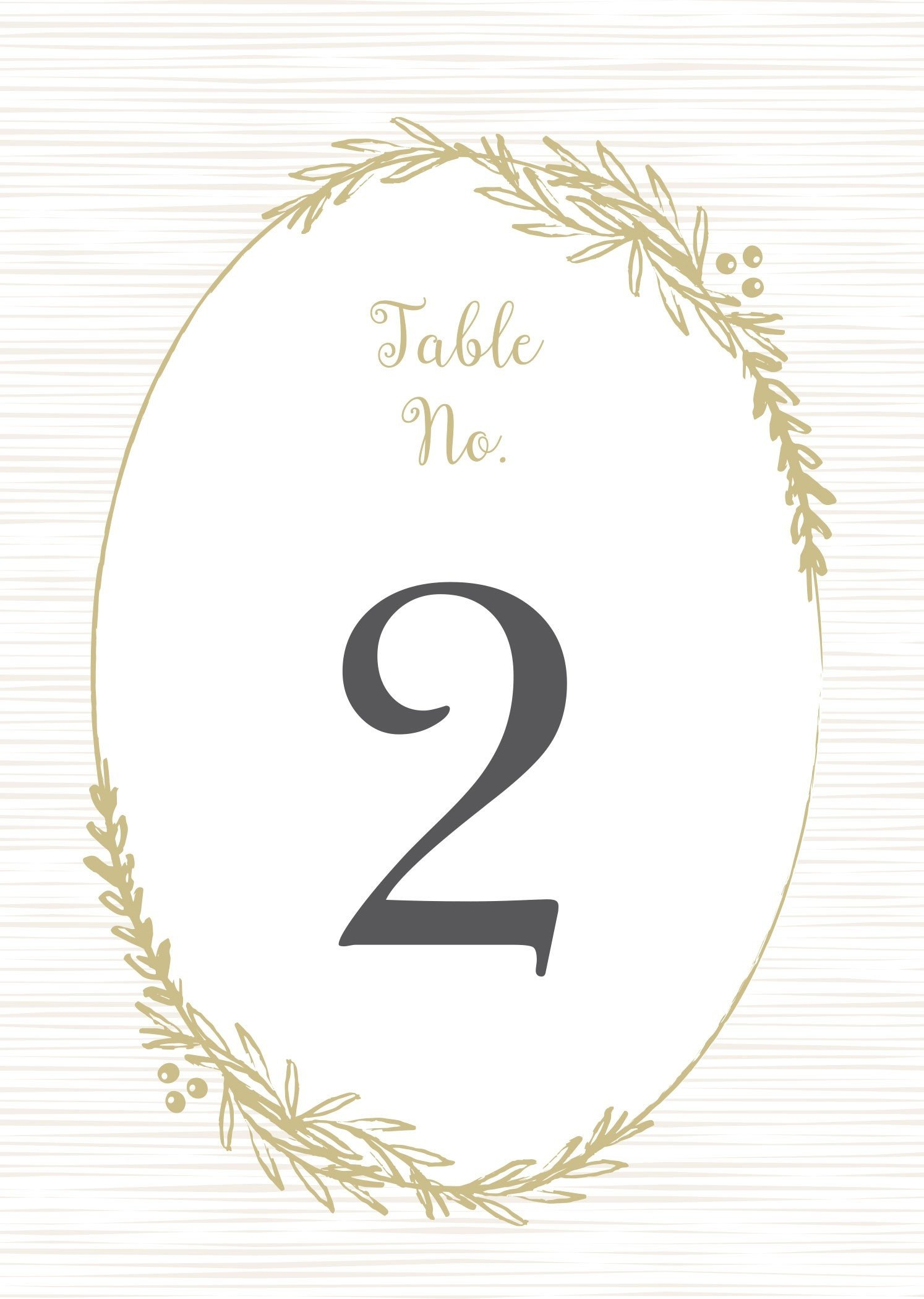 Table Number Template Word Delicate Laurel Table Number Printables by Basic Invite