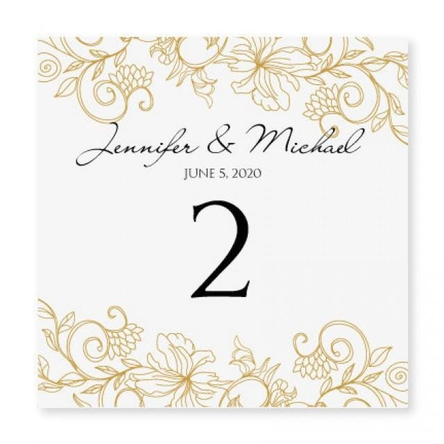 Table Number Template Word Instant Download Wedding Table Number Card Template