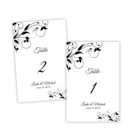 "Table Number Template Word Items Similar to Table Number Template Elegant ""tiffany"