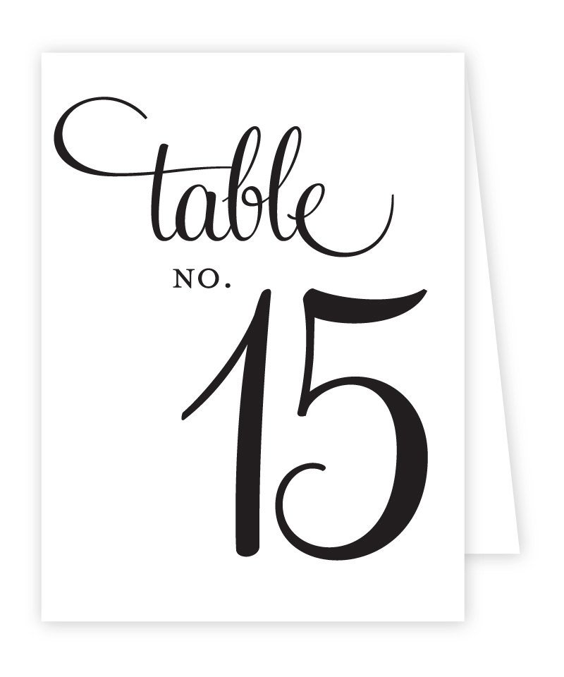 Table Number Template Word Reception Table Numbers Printable Tent Style