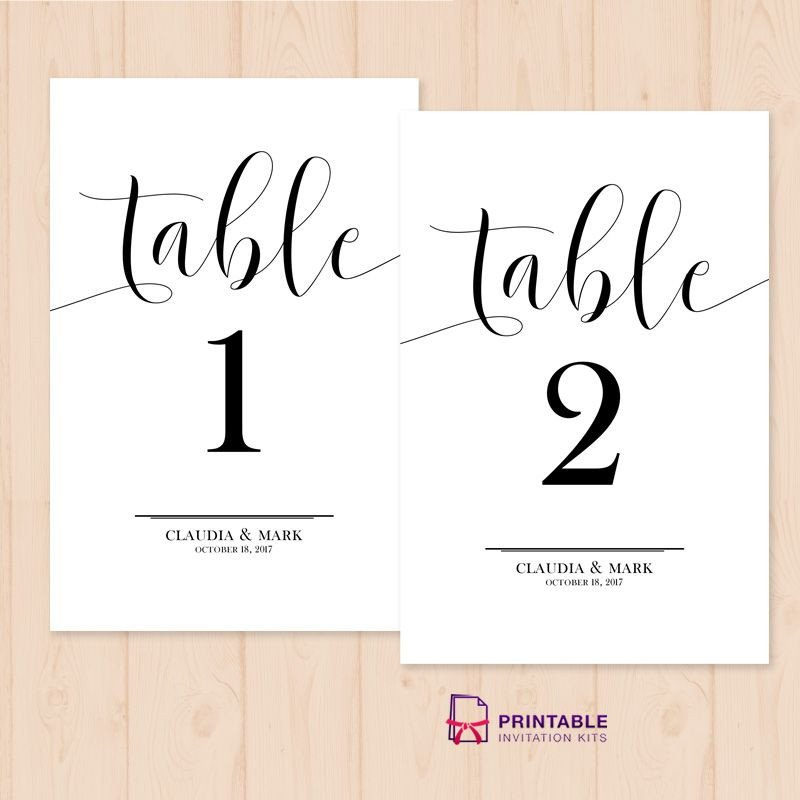 Table Number Template Word Table Numbers Free Printable Pdf Template Easy to Edit